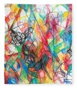 Abstract Art Focused Inward Towards The Divine 4 Fleece Blanket