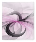 Abstract Art Fractal With Pink Fleece Blanket