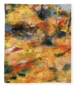 Abstract Autumn 1 Fleece Blanket