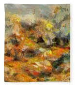 Abstract Autumn 2 Fleece Blanket