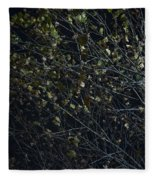 Abstract Background Of Tree At Night Fleece Blanket
