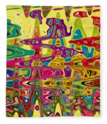 Abstract Background With Bright Colored Waves 5 Fleece Blanket