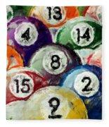 Abstract Billiards Rack Fleece Blanket