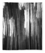 Abstract Black And White Composition Fleece Blanket
