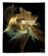 Abstract Bloom  Fleece Blanket