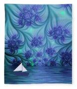 Abstract Blue World Fleece Blanket