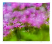 abstract Blurry pink flower background for backgrounds Fleece Blanket