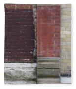 Abstract Brick Wall 1 Fleece Blanket