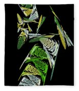 Abstract Bugs Vertical Fleece Blanket