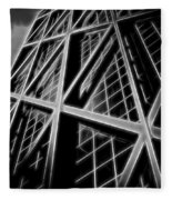 Abstract Buildings 2 Fleece Blanket