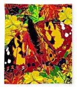Abstract Butterfly #3 Autumn Fleece Blanket