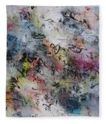 Abstract Butterfly Dragonfly Painting Fleece Blanket