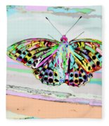 Abstract Butterfly Fleece Blanket