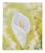 Abstract Calla Lily Fleece Blanket