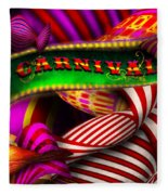 Abstract - Carnival Fleece Blanket