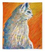 Jazzy Abstract Cat Fleece Blanket