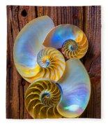 Abstract Chambered Nautilus Fleece Blanket