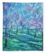 Abstract Cherry Trees Fleece Blanket