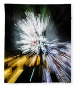 Abstract Christmas Lights - Burst Of Colors Fleece Blanket