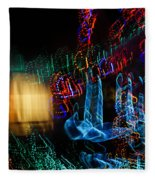 Abstract Christmas Lights - Color Twists And Swirls  Fleece Blanket