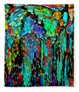 Abstract Color Falls Fleece Blanket
