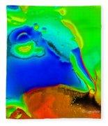 Abstract Color Fun Fleece Blanket