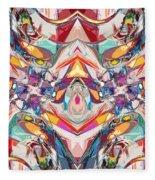 Abstract Color Mix Fleece Blanket