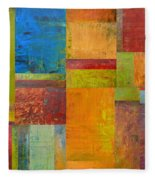 Abstract Color Study Collage Ll Fleece Blanket