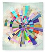 Abstract Color Wheel Fleece Blanket