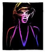 Abstract Colorful Monroe Fleece Blanket