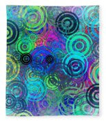 Abstract Colorful Rings Fleece Blanket