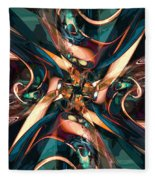 Abstract Colorful Shapes Fleece Blanket