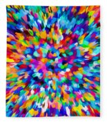 Abstract Colorful Splash Background 1 Fleece Blanket