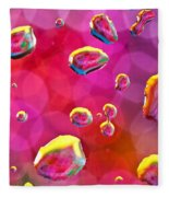 Abstract Colorful Water Drops Fleece Blanket