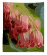 Abstract Coral Bells Fleece Blanket