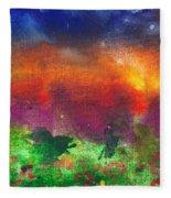 Abstract - Crayon - Utopia Fleece Blanket