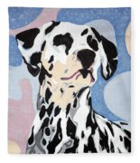 Abstract Dalmatian Fleece Blanket