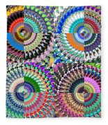 Abstract Digital Art Collage Fleece Blanket