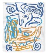 Abstract Digital Fleece Blanket