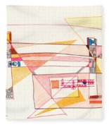 Abstract Drawing Eighteen Fleece Blanket
