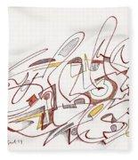 Abstract Drawing Fifteen Fleece Blanket