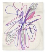 Abstract Drawing Fifty-six Fleece Blanket