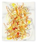Abstract Drawing Fifty-three Fleece Blanket