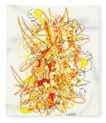 Abstract Drawing Fifty-three Fleece Blanket
