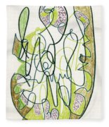 Abstract Drawing Forty-four Fleece Blanket