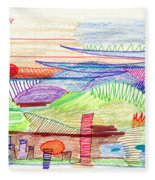 Abstract Drawing Four Fleece Blanket
