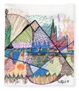Abstract Drawing One Fleece Blanket