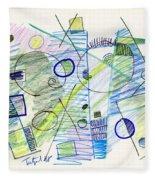 Abstract Drawing Seven Fleece Blanket