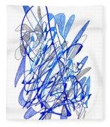 Abstract Drawing Seventy Fleece Blanket