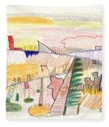 Abstract Drawing Six Fleece Blanket